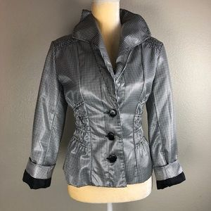Erin London Fitted Checkered Jacket M